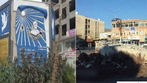 Cizre'de Orhan Doğan anıtı yıkıldı!
