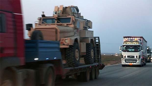 ABD'nin QSD'ye gönderdiği zırhlı araçlar görüntülendi
