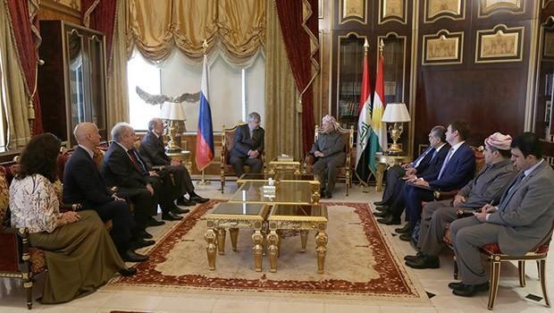 Başkan Barzani, Rus heyetini kabul etti