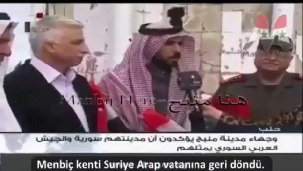 Suriye Ordusu ve hükümet yetkilileri resmi olarak Menbiç'e girdi!