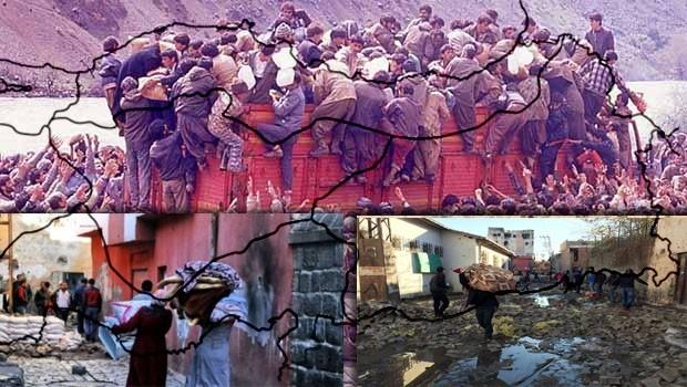 T.C. Devlet Zulmü, PKK Baskısı ve Kürdistan'da ki Nüfus Hareketleri