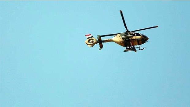 Musul'da askeri helikopter düştü!