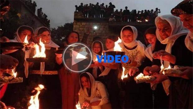 Ezidi Kürtleri Çarşema Sor'u kutluyor