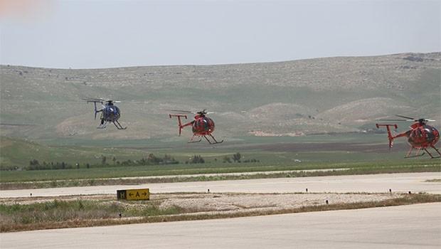 Süleymaniye'ye 4 helikopter