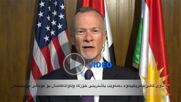 ABD Erbil Başkonsolosu Ramazan'ı Kürtçe kutladı