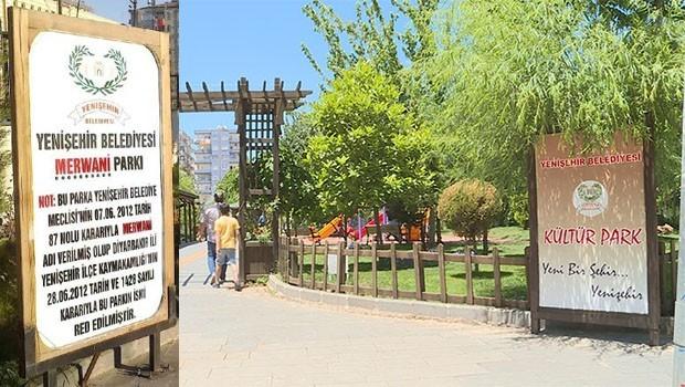 Mervani Parkı'nın ismini de değiştirildi