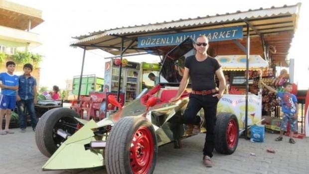 Midyatlı bakkal hayalindeki yarış arabasını yaptı!
