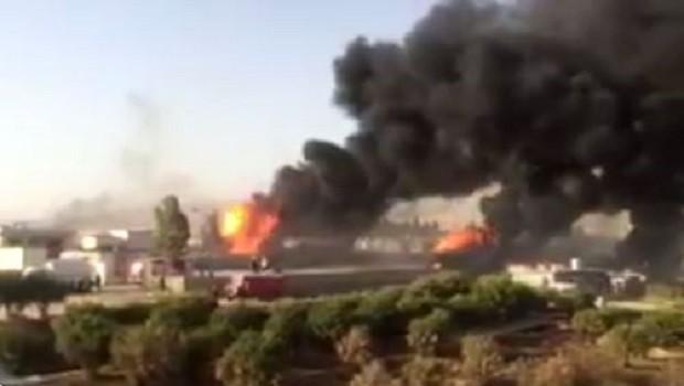 Süleymaniye'de yangın: Çok sayıda yaralı var!