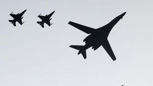 ABD bombardıman uçakları Kore Yarımadası'nda