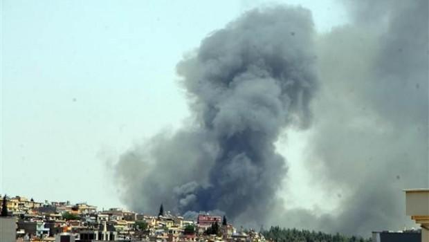 Antep'te büyük fabrika yangını