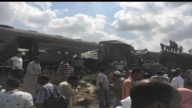 Mısır'da tren faciası! Onlarca ölü ve yaralı