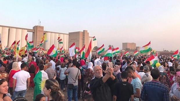 Rojava'da referanduma destek etkinliği