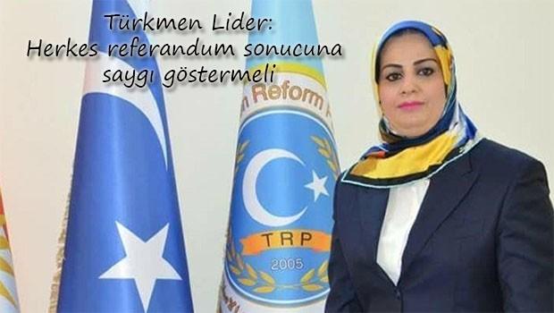 Türkmen Lider: Bağdat ile müzakerelere başlayacağız