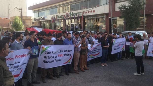 ABD'nin Erbil Konsolosluğu önünde protesto gösterisi