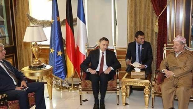 Başkan Barzani, Fransa ve Almanya büyükelçilerini kabul etti