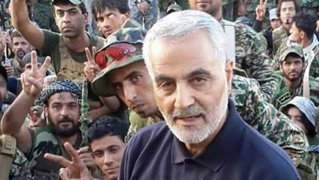 Kasım Süleymani Suriye sınırında