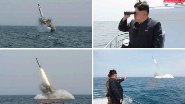 Kuzey Kore füze denemesinde kendi şehrini vurdu!