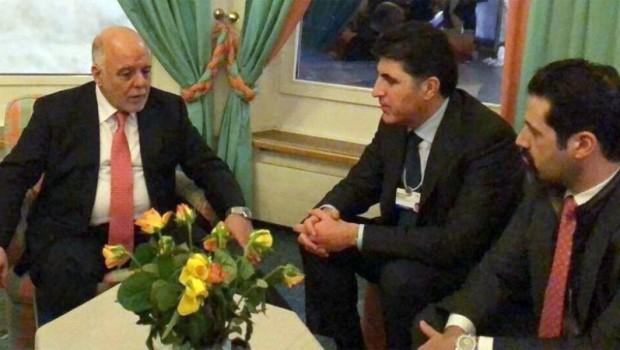 Başbakan Barzani, Davos'ta Abadi ile görüştü