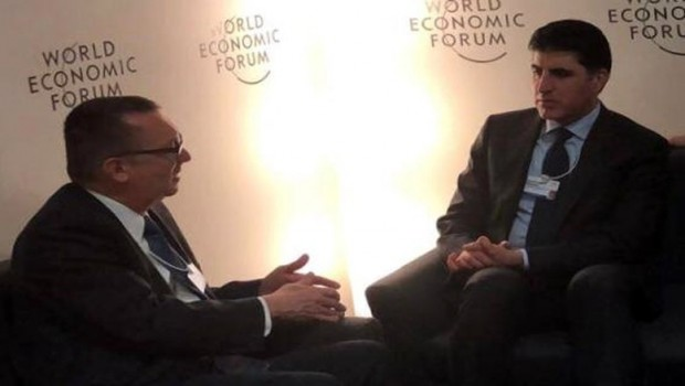 Başbakan Barzani'nin Davos'taki diplomasi trafiği sürüyor