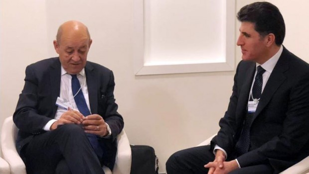 Başbakan, Fransa Dışişleri Bakanı ile bir araya geldi