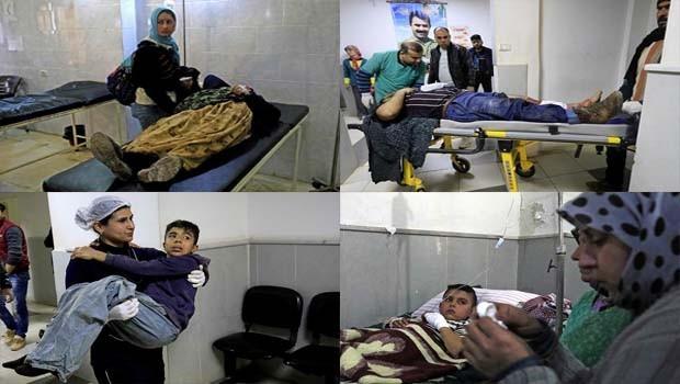 Afrin Hastanesi sivillerle doldu