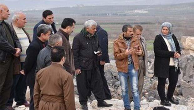 Kürdistan Parlamento Heyetinden Eyn Der'a ziyaret