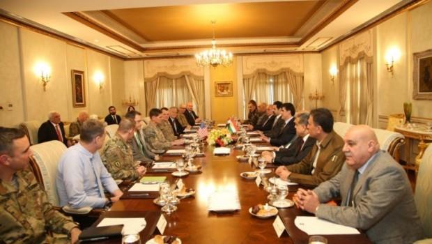 Başbakan Barzani, CENTCOM Komutanı Votel'i kabul etti