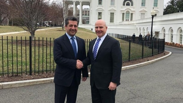 Mesrur Barzani ve McMaster ile bir araya geldi