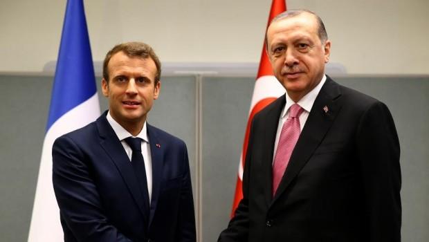 Erdoğan, Macron'la Suriye'yi görüştü