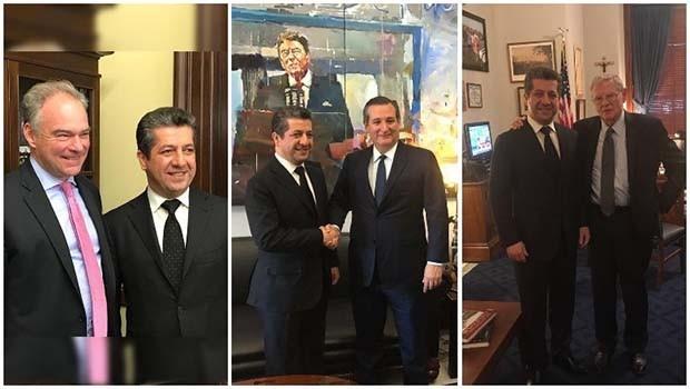 Mesrur Barzani'den Washington'a diplomasi trafiği