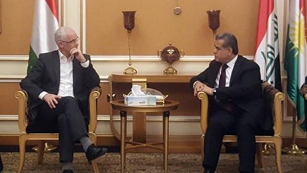Macaristan Bakanı Erbil'de