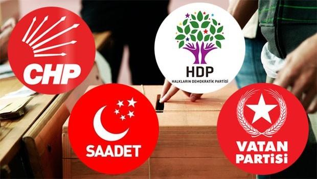 CHP, HDP, Saadet ve Vatan Partisi'nden iş birliği için uzlaşı