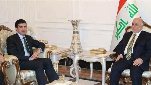 Başbakan Barzani Abadi ile görüştü