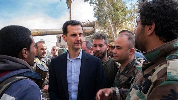 Beşar Esad uzun zaman sonra orada ortaya çıktı