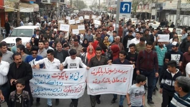 Kürdistan'da memurlar meydanlara indi