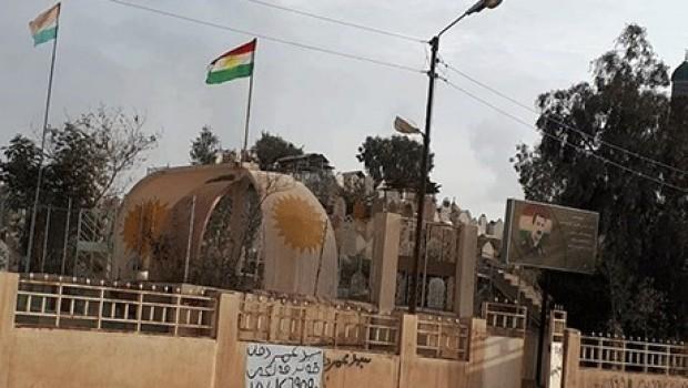 Kerkük'te, Şehitliklerde dalgalanan Kürdistan bayrağını da yasakladı