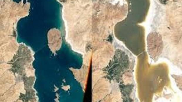 Kuraklık Urmiye Gölünü vurdu.. İran önlem almıyor!