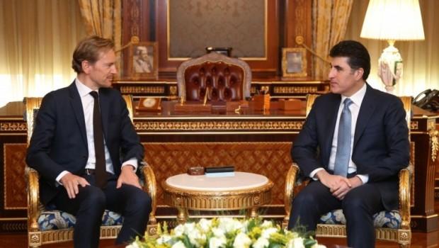 Başbakan Barzani Belçika Büyükelçisi'ni kabul etti