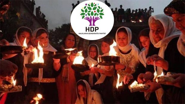HDP, Ezidîlerin Çarşema Sor bayramını kutladı