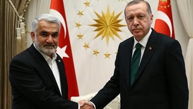 Erdoğan, Hüda-Par Genel Başkanı Yapıcıoğlu'nu kabul etti