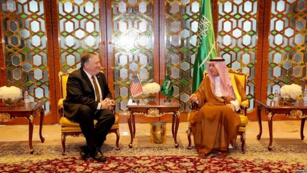 Pompeo'nun  ilk ziyareti Suudi Arabistan'a