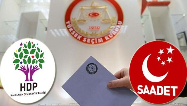 YSK'den HDP ve Saadet Partisi'ne 30 Mayıs'a kadar süre