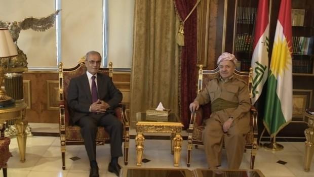 Başkan Barzani, Necmedîn Kerîm'i kabul etti