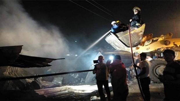 Başkent Erbil'de büyük yangın