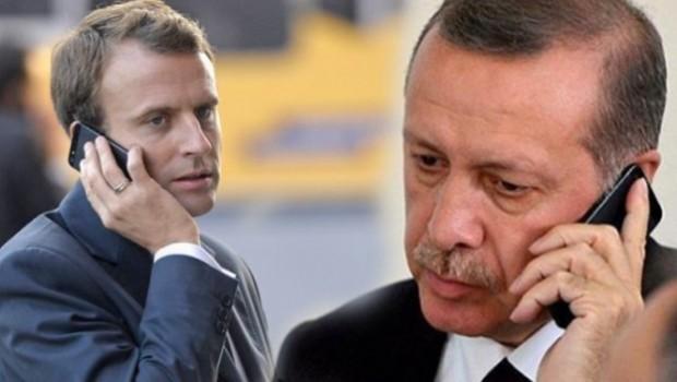 Erdoğan ile Macron Menbic'i görüştü