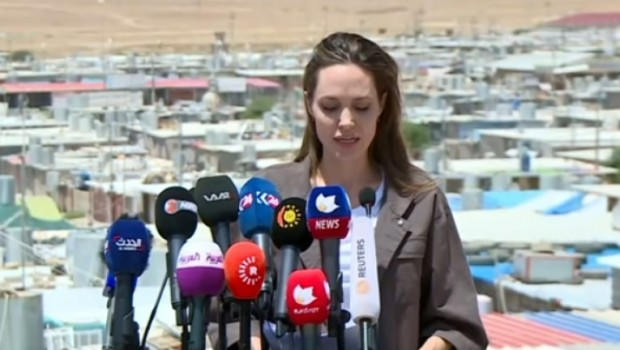 Angelina Jolie'den Kürdistan Hükümetine teşekkür