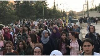 Rojava'da halk Efrin için sokağa döküldü