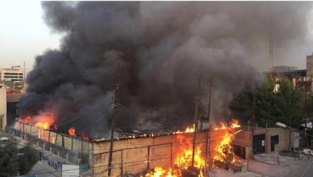 Bağdat ve Hawice'deki silah depolarında yangın