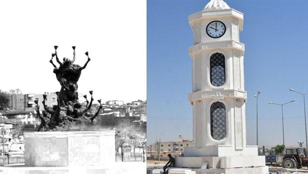 Yıkılan Newroz Anıtı'nın yerine saat kulesi!