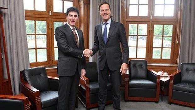 Başbakan Barzani, Hollanda Başbakanı Rutte ile görüştü